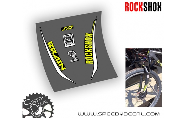 Rock shox SID 2017 Brain - adesivi per forcella