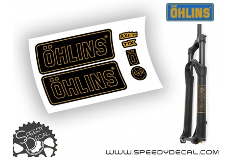 Ohlins RXF 34 modello 2017 - adesivi personalizzati per forcella