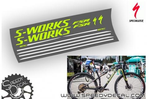 Specialized S-works Epic replica Jaroslav Kulhavy - kit adesivi telaio