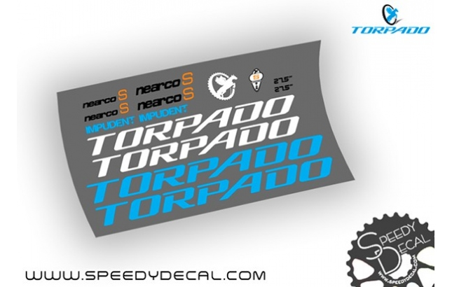 Torpado Nearco S 27.5 - kit adesivi telaio