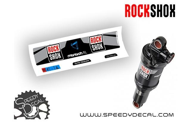 Rock Shox Monarch RL 2016 - adesivi per ammortizzatore posteriore