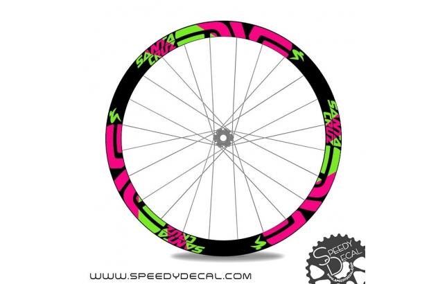 Enve M series Santa Cruz edition - adesivi per ruote