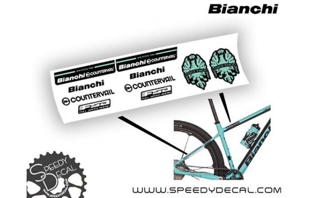 Bianchi MTB Official Team Methanol 2017 - kit adesivi per telaio