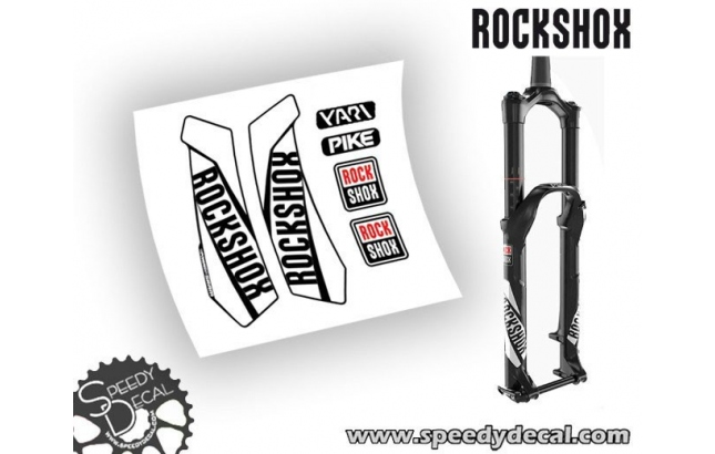 Rock shox Pike / Yari 2016-17 - adesivi per forcella