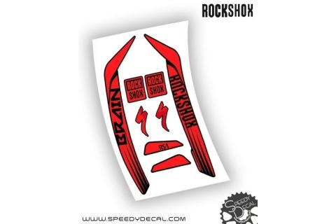 Rock shox RS-1 Brain 2015 - adesivi personalizzati per forcella