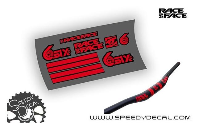 Race Face Six C 35 Carbon - adesivi personalizzati per manubrio MTB