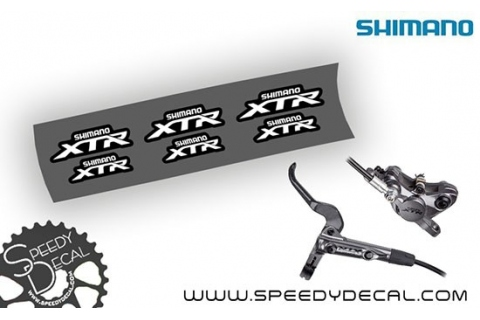 Shimano XTR 2017 - adesivi personalizzati per pinze e leve freni