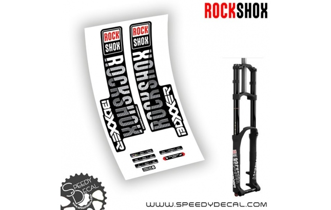 Rock shox Boxxer World Cup / Team / Rc anno 2018 - adesivi per forcella