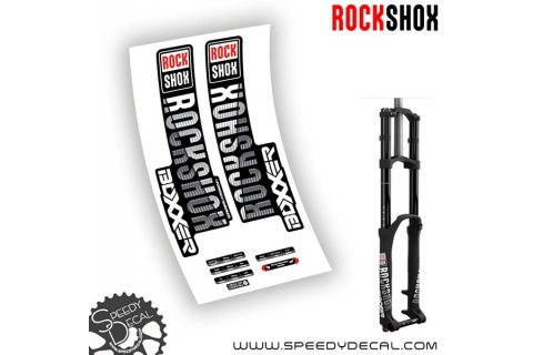 Rock shox Boxxer World Cup / Team / Rc - anno 2018 - adesivi personalizzati per forcella