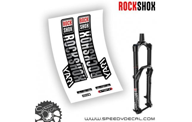 Rock shox Yari RC - anno 2018 - adesivi personalizzati per forcella