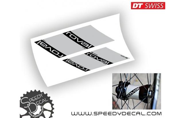 DT Swiss per Roval Traverse - adesivi personalizzati per mozzi