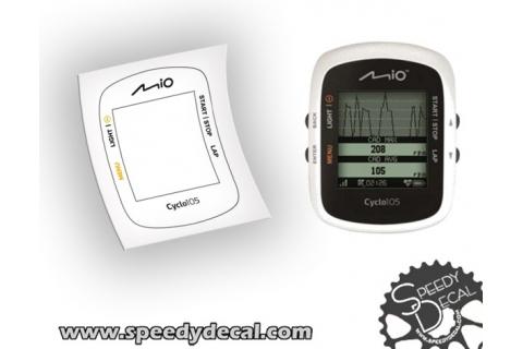 Mio technology cyclo 105 cover, adesivo personalizzato