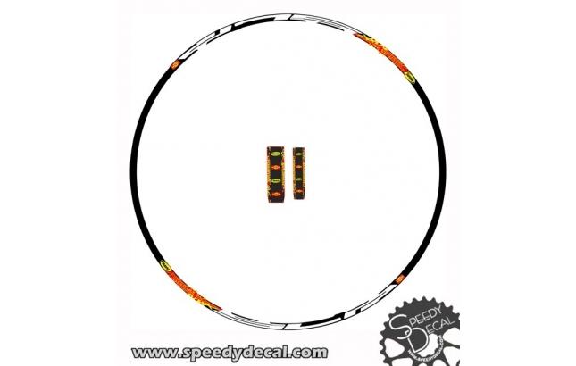 Mavic crossmax SLR 2008 - adesivi personalizzati per cerchi  e mozzi mtb