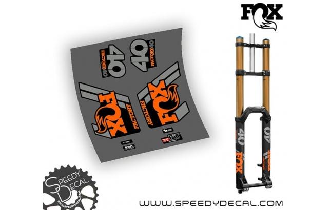 Fox 40 Evol Factory Series anno 2018 - adesivi personalizzati per forcella
