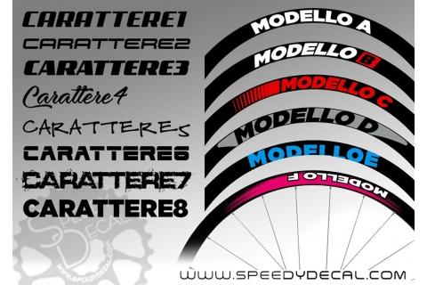 Adesivi per ruote con scritta personalizzata