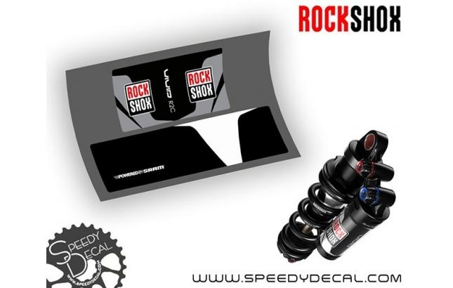 Rock Shox Vivid R2C 2017 - adesivi per ammortizzatore posteriore