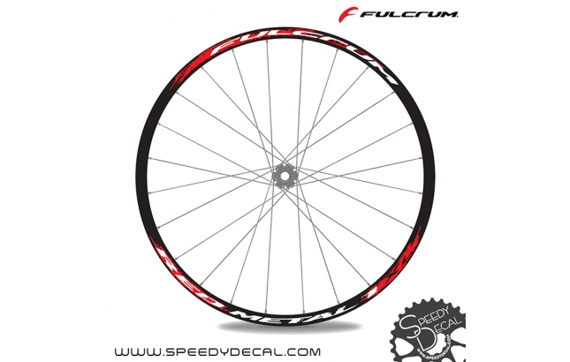 Fulcrum Red Metal 1 XL - adesivi per ruote