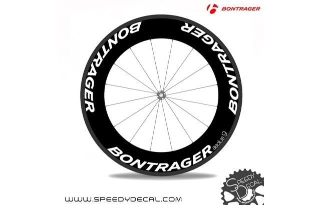 Bontrager Aeolus 9 anno 2015 - adesivi personalizzati per ruote