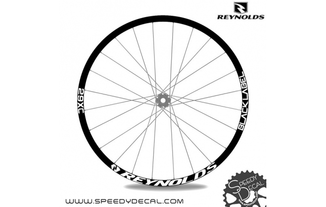Reynolds 29XC Black Label - adesivi per ruote