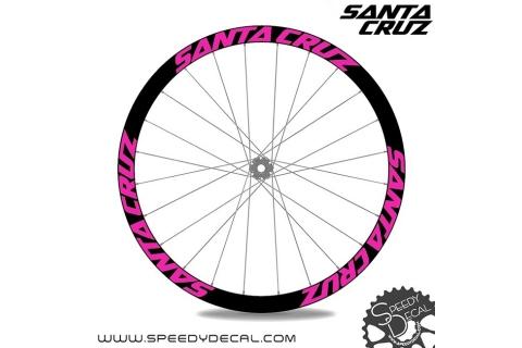 Santa Cruz - Adesivi personalizzati per cerchio con logo