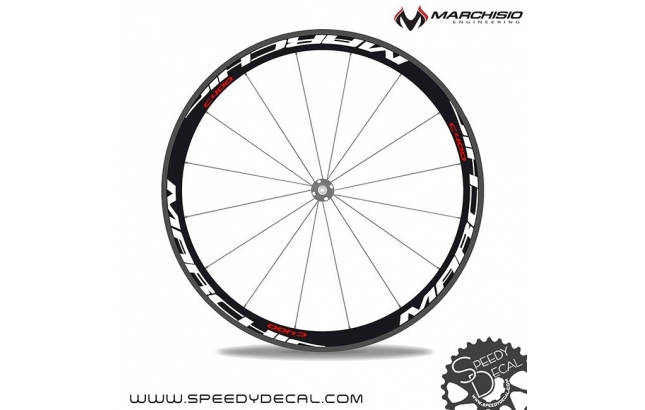 Marchisio c400 carbon - adesivi personalizzati per ruote