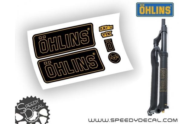 Ohlins RXF 36 modello 2017 - adesivi personalizzati per forcella