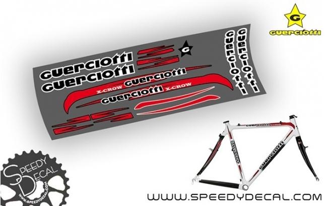 Guerciotti X-Crow - kit adesivi telaio ciclocross