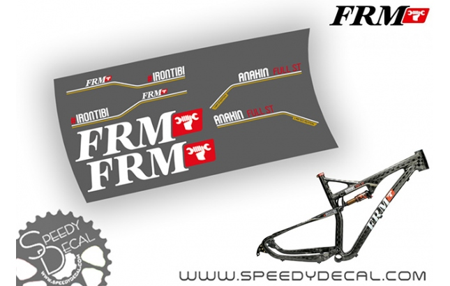 FRM Anakin Full ST IRONTIBI - kit adesivi per telaio
