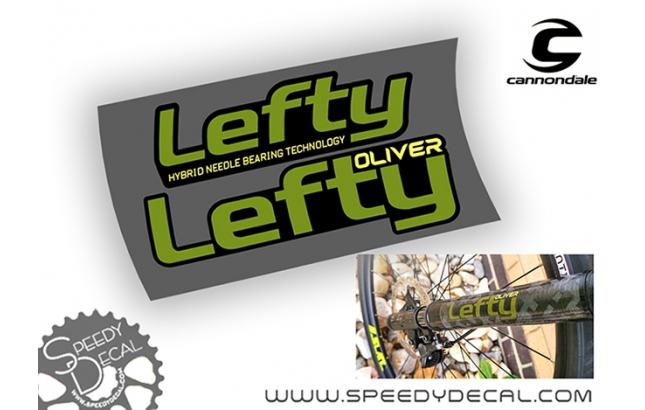 Cannondale Lefty Oliver - adesivi personalizzati per forcella
