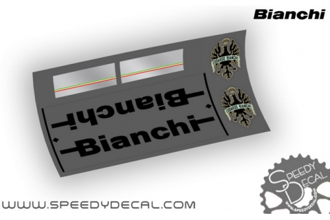 Bianchi 70's / 80's - kit adesivi per telaio