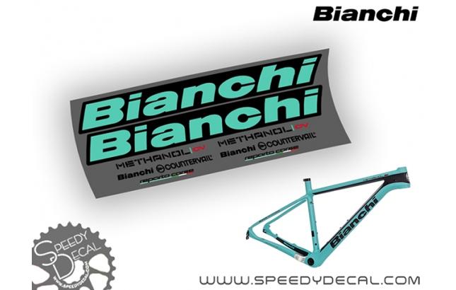 Bianchi Methanol CV 2017 - kit adesivi per telaio