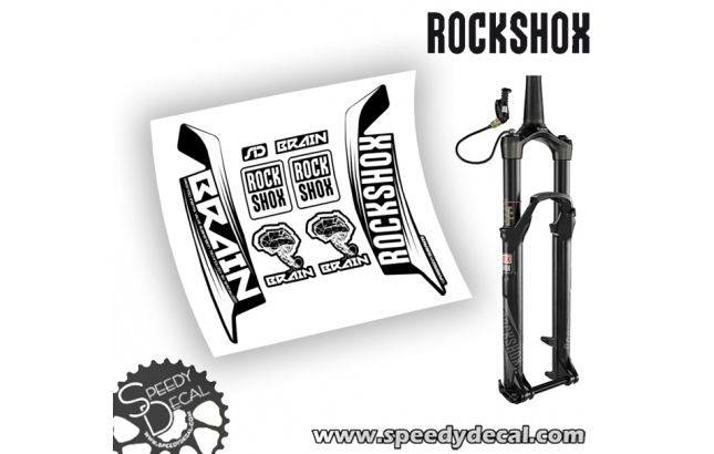 Rock shox SID 2016 Brain - adesivi per forcella