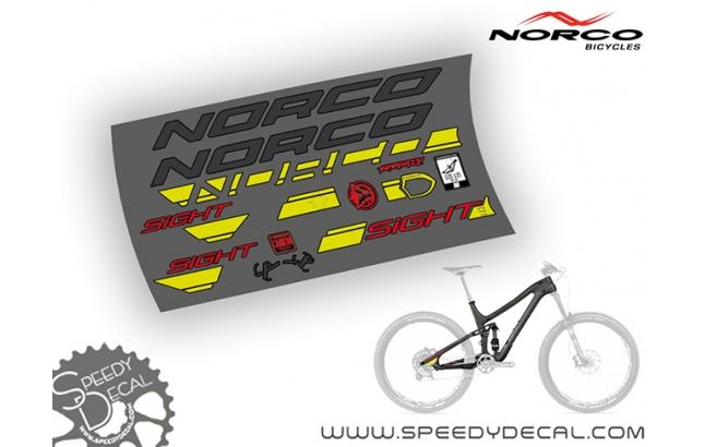 Norco Sight 7.1 - kit adesivi per telaio