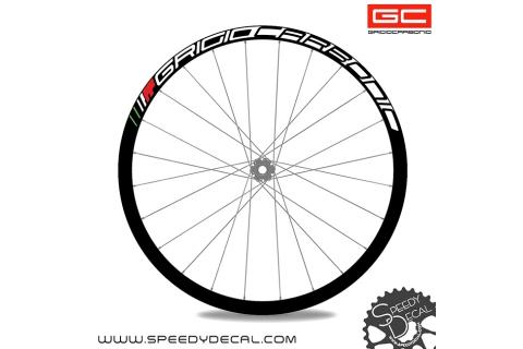 GrigioCarbonio HardWheel RS-L - Adesivi per ruote