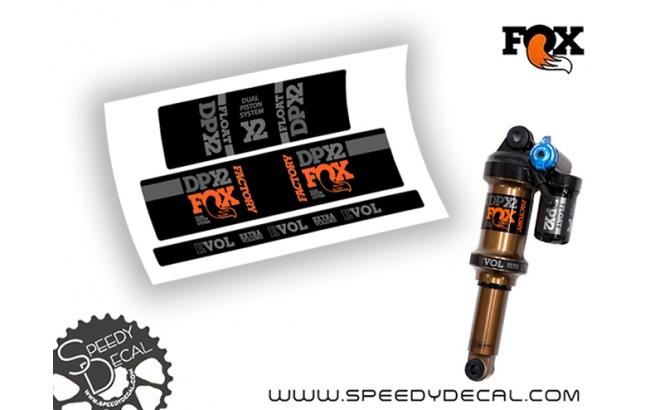 Fox Float DPX2 Factory Racing 2019 - adesivi per ammortizzatore posteriore