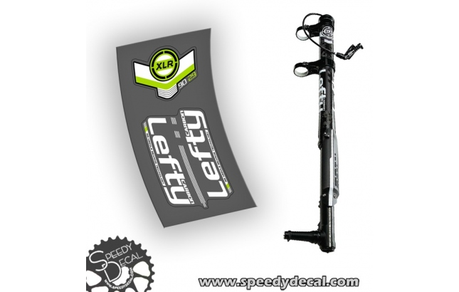 Cannondale Lefty XLR 90 carbon 2014 - adesivi per forcella