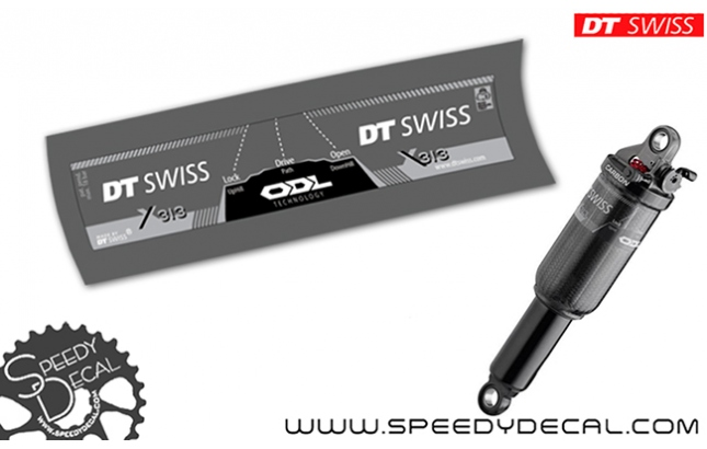 DT Swiss X313 ODL - adesivi per ammortizzatore posteriore