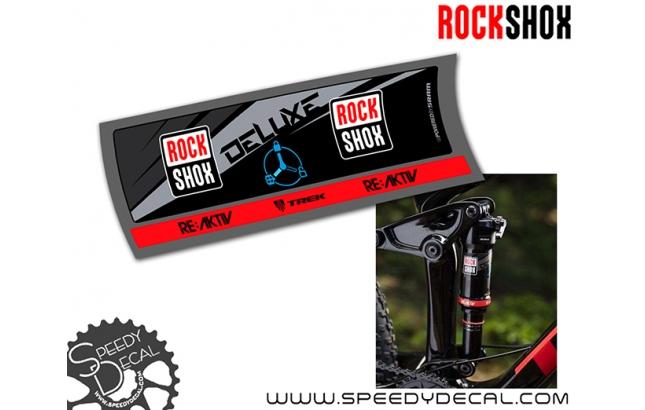 Rock Shox Super Deluxe RT3 2017 - adesivi per ammortizzatore posteriore
