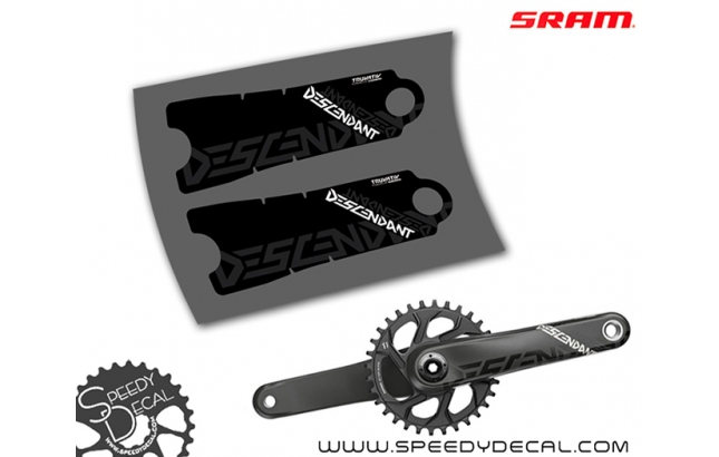 Sram Truvativ Descendant Carbon - adesivi per pedivelle