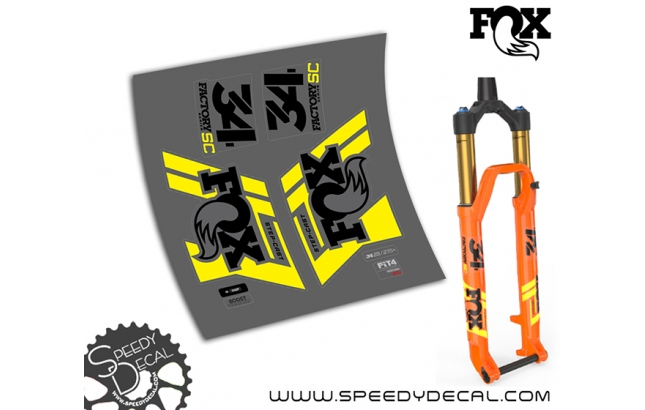 Fox 34 Factory Racing Step Cast 2019 - adesivi per forcella