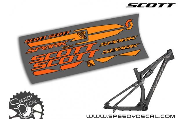 Scott Spark RC 900 Premium 2013 - kit adesivi telaio