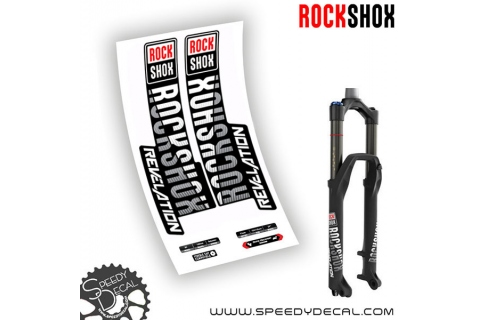 Rock shox Revelation RC - anno 2019 - adesivi personalizzati per forcella