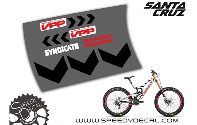 Santa Cruz V10 Syndicate 2018 - kit adesivi telaio
