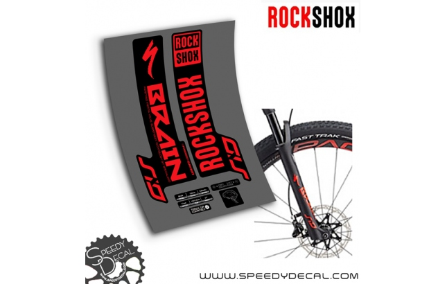 Rock shox Sid Brain 2019/20 - adesivi per forcella