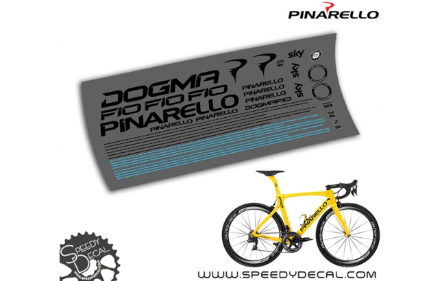 Pinarello Dogma F10 Sky Tour de France - kit adesivi per telaio