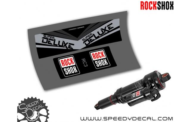 Rock Shox Super Deluxe RC3 2017 - adesivi per ammortizzatore posteriore