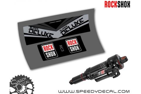 Rock Shox Super Deluxe RC3 2017 - adesivi personalizzati per ammortizzatore