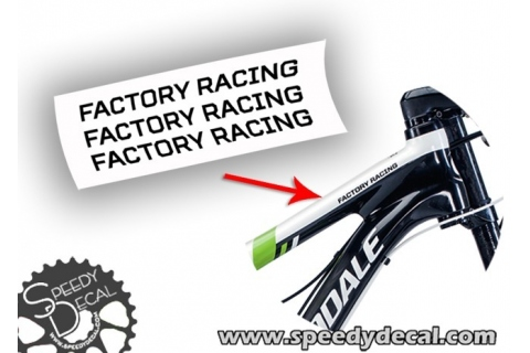 Cannondale Factory Racing - adesivi per telaio Flash Scalpel...