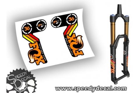 Fox Racing Shox 36 modello 2015 adesivi personalizzati