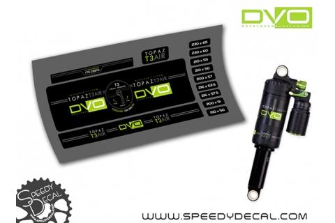 DVO Topaz T3 Air - adesivi per ammortizzatore posteriore